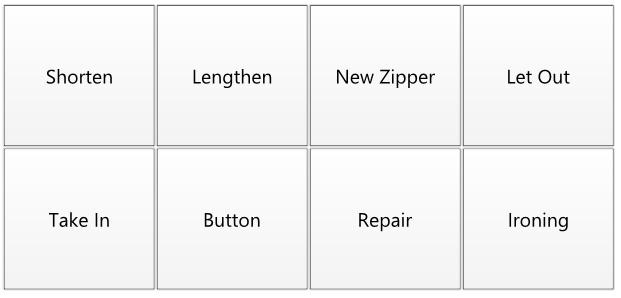Tasks - Alterations Service